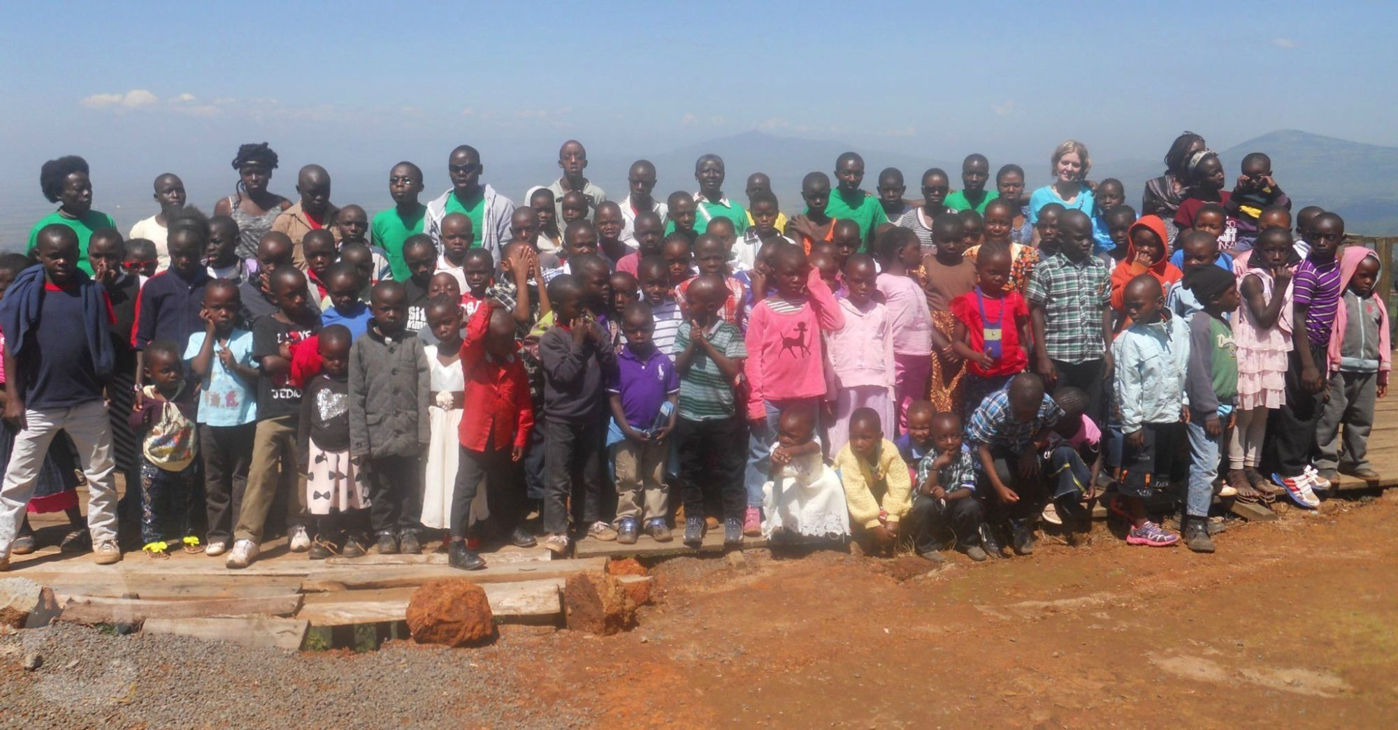 The children of Future Stars at a Rift Valley Viewpoint