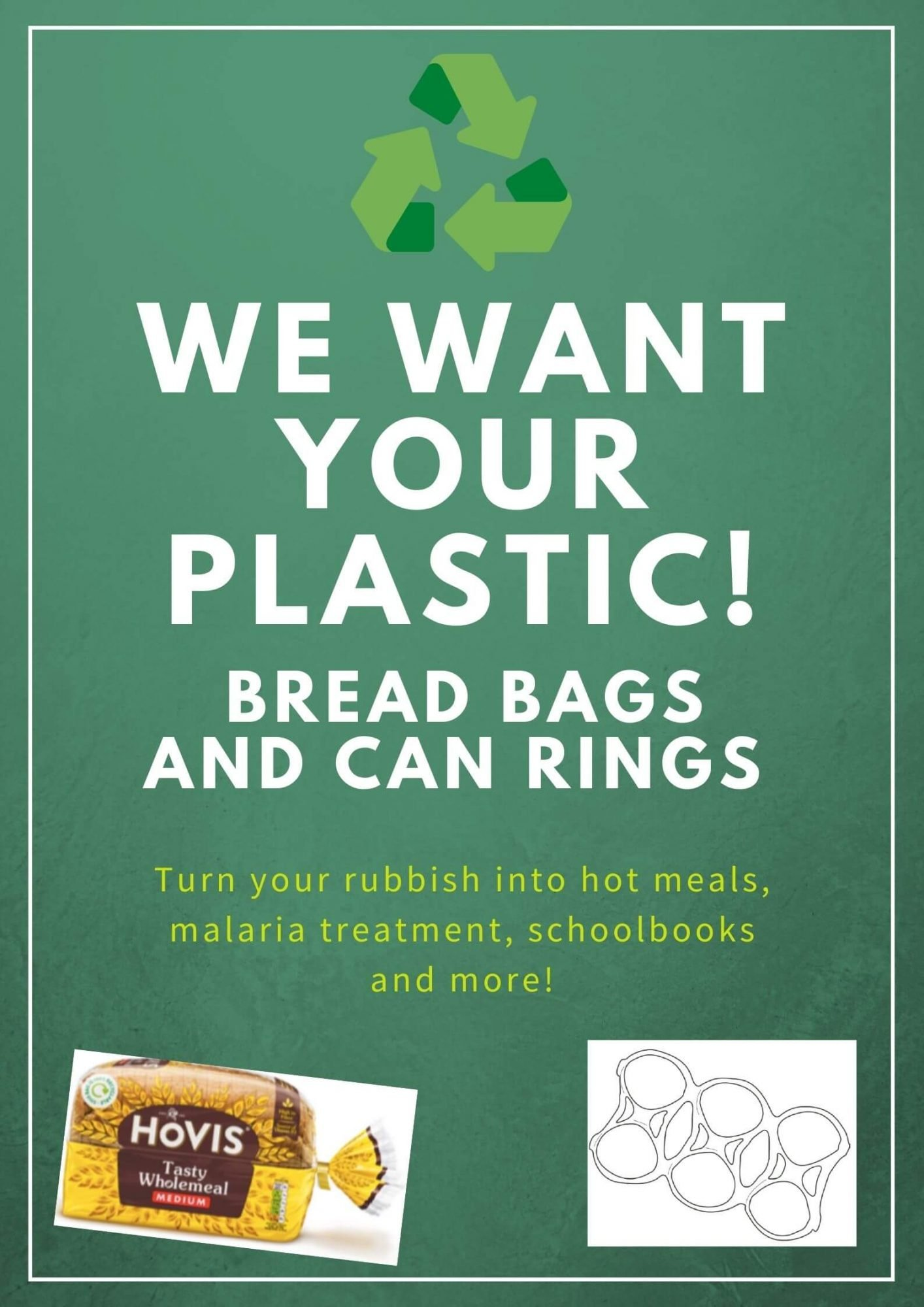 Graphic: We want your plastic (bread bags and can rings)