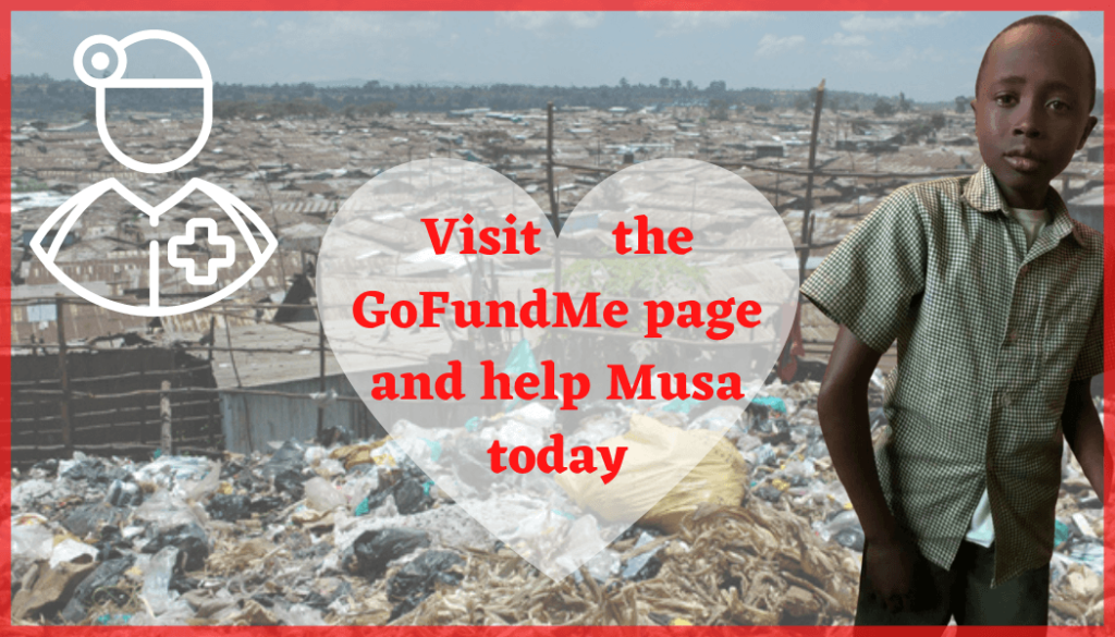 Visit the GoFundMe page and help Musa today